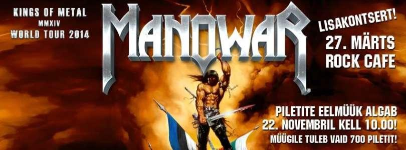 MANOWAR annab 27. märtsil lisakontserdi